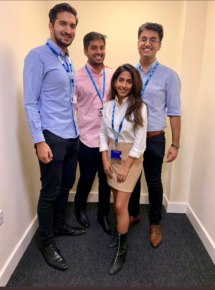 Tejus Patel, Minal Jain, Akshay Kumar and Adil Nayeem, the team working on the Bet on Me app