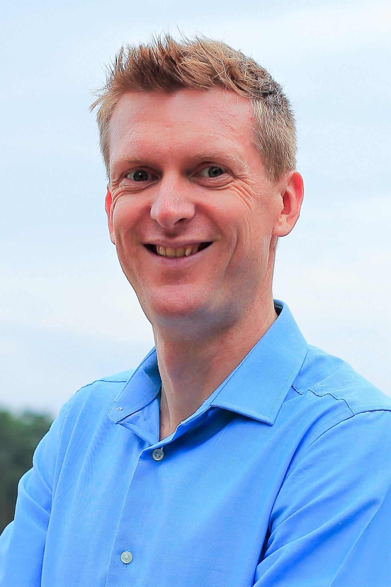 Head shot of social entrepreneur Dean Johnstone