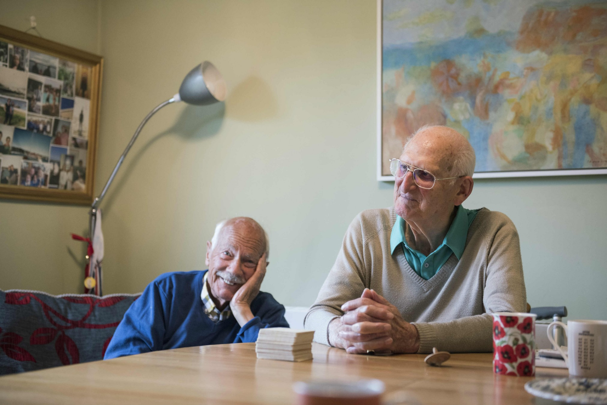 Two clients enjoy socialising at care provider and Transform Ageing award winner the Filo Project