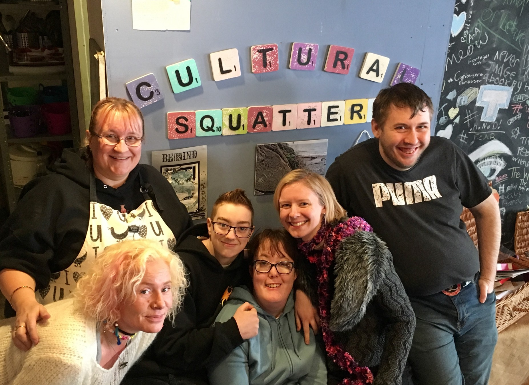 Learning Journey participants at cultural squatters