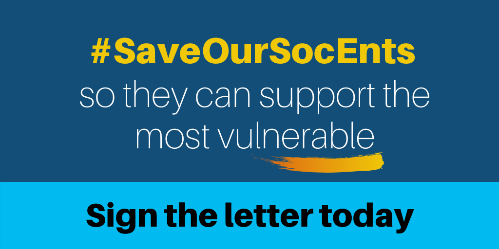Save Our SocEnts so the can support the most vulnerable. Sign the letter today.