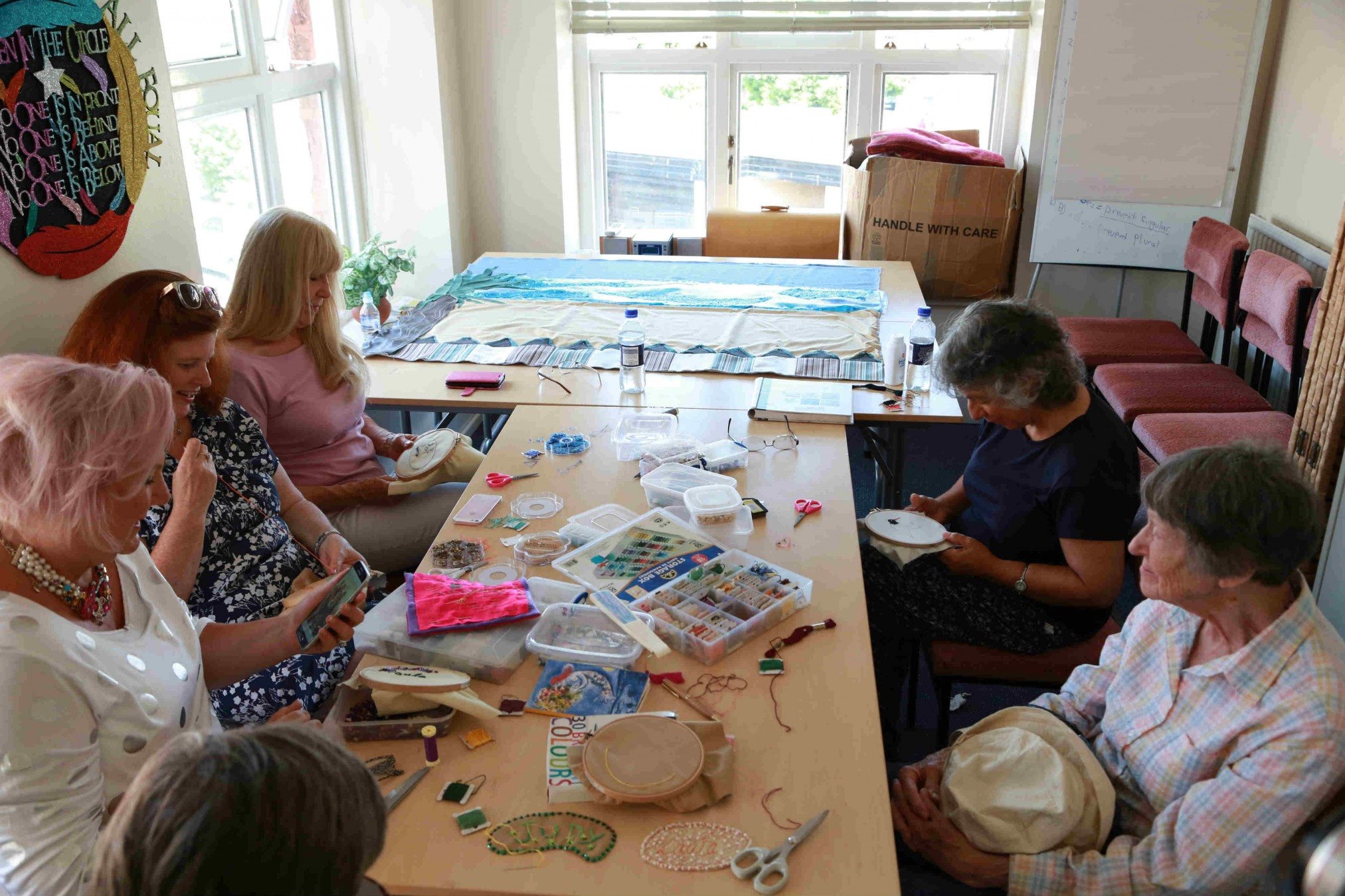 The Sewing Rooms works with women over the age of 50