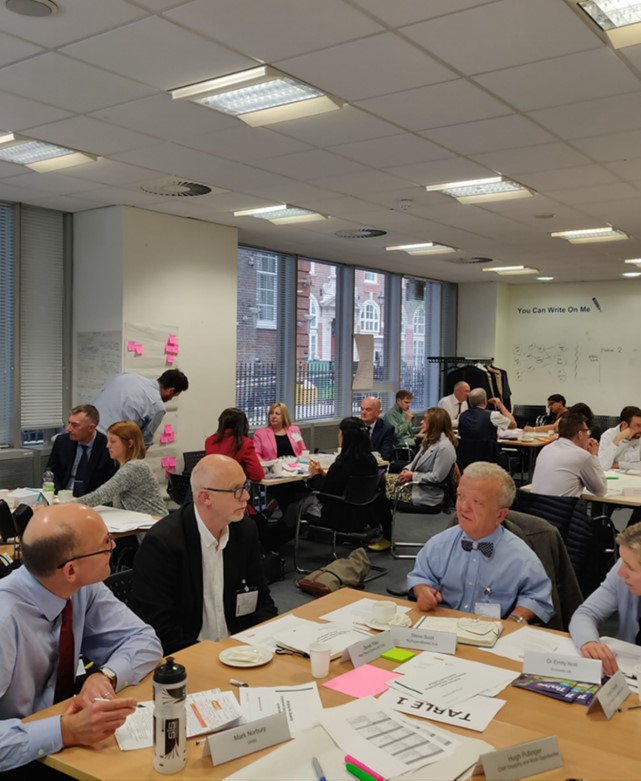 Discussion at UnLtd's roundtable event at DWP in April