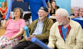 The social venture running care home exercise classes with a difference image.